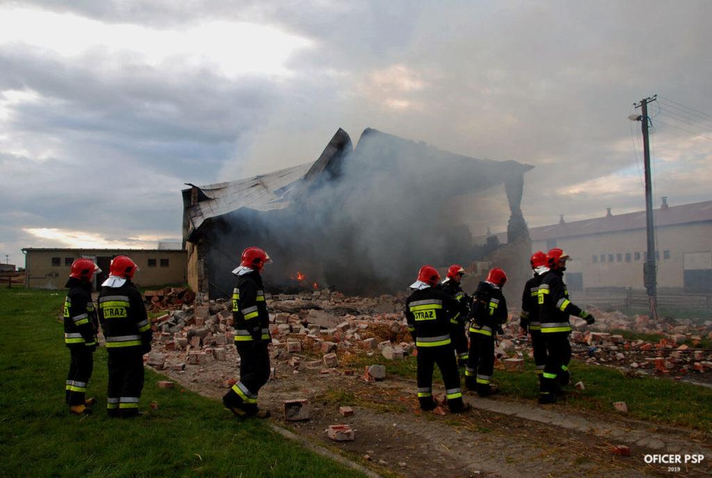 hala wyburzenie strazacy 1024x688 - Pożar w owczarni