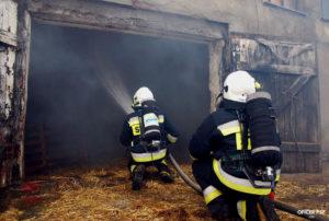strazacy gaszenie osp 300x202 - Pożar w owczarni