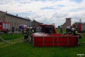 strazacy woda pcw 300x202 - Pożar w owczarni