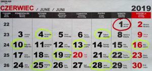 kalendarz zmianowy czerwiec 300x141 - Pierwsze dni służby – oczekiwania a rzeczywistość