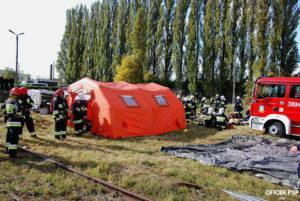 cwiczenia psp polowe izby przyjec 1 300x201 - Straż pożarna a koronawirus